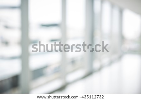 nobody in the blur scene of office building