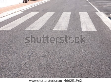 Nobody in the street crosswalk