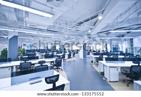 Nobody office work place - stock photo