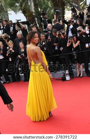 Noemie Lenoir attends the opening ceremony and 'La Tete Haute' premiere during the 68th annual Cannes Film Festival on May 13, 2015 in Cannes, France. - stock photo