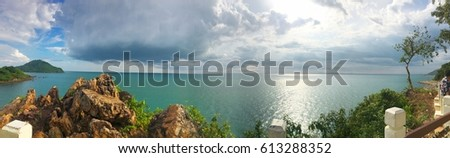 Noen Phaya Scence Area with panorama landscape style  in Chantaburi-Thailand