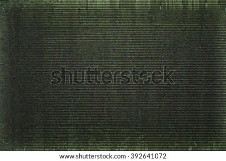 Noice Screen Glitch Texture - stock photo