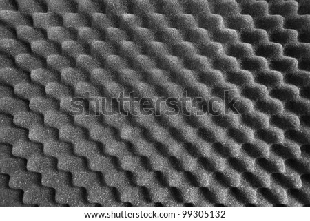 noise absorbing material - stock photo
