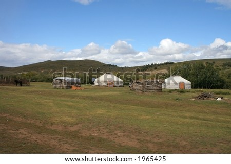 Nomad home in Mongolia. - stock photo