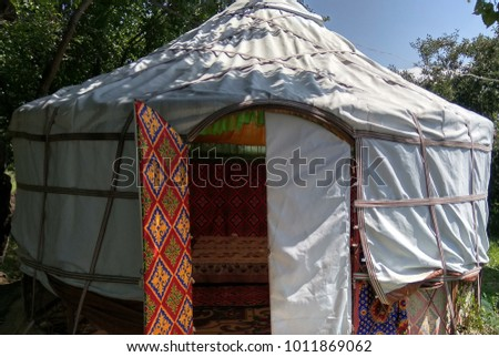 nomadic tent entrance & Nomadic Tent Stock Images Royalty-Free Images u0026 Vectors ...