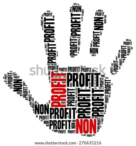Non profit organization or business. Word cloud illustration. - stock photo