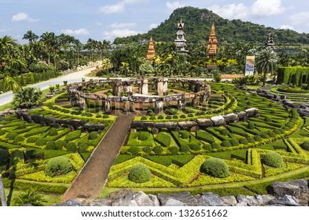 Nong Nooch Garden at pattaya in Thailand - stock photo