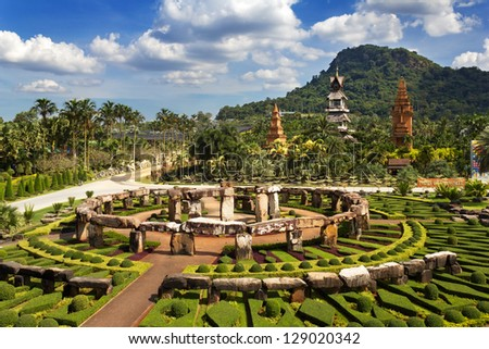 Nong Nooch Garden in Pattaya, Thailand - stock photo