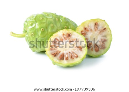 Noni on white - stock photo