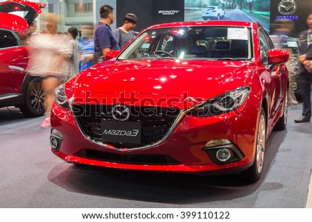 NONTABURI, THAILAND - 23 MAR : All New Mazda3  hatchback showed in Thailand the 37th Bangkok International Motor Show on 23 March 2016