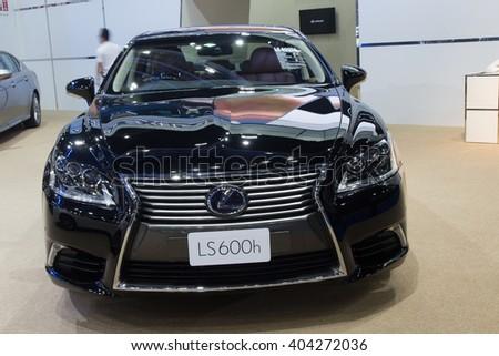 NONTABURI, THAILAND - 23 MAR :Lexus LS600h hybrid showed in Thailand the 37th Bangkok International Motor Show on 23 March 2016 - stock photo