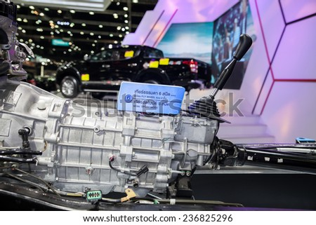 NONTHABURI - DECEMBER 4 :New gearbox on display at MOTOR EXPO 2014 on Dec 4,2014 in Nonthaburi, Thailand.