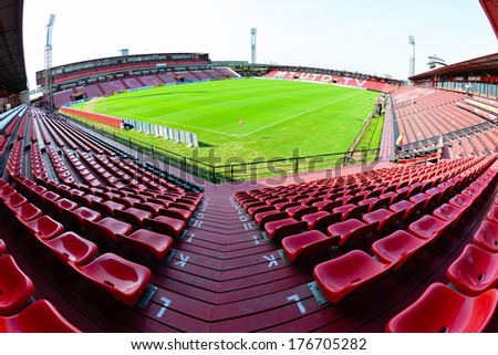 NONTHABURI-FEB 8:The home stadium of SCG Muangthong United during football AFC Champions League 2014 between MTUTD and Hanoi T&T at SCG stadium on February8,2014 in Thailand