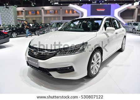 NONTHABURI - NOVEMBER 30:  Honda Accord car on display at Thailand International Motor Expo 2016 on November 30, 2016 in Nonthaburi, Thailand.