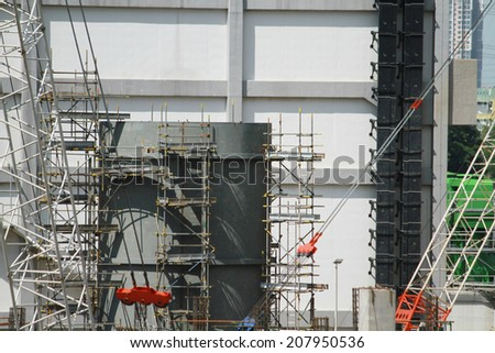 NONTHABURI-THAILAND-JUNE 3 : Construction of EGAT's North Bangkok gas combine cycle power plant 800 MW on June 3, 2014 in Nonthaburi, Thailand