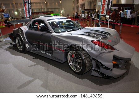 NONTHABURI THAILAND JUNE 20 : Mazda RX7 Modified And Displayed At Bangkok  International Auto Salon