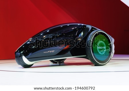 NONTHABURI, THAILAND - MARCH 31: The Toyota PV2 is on display at the 35th Bangkok International Motor Show 2014 on March 31, 2014 in Nonthaburi, Thailand.  - stock photo