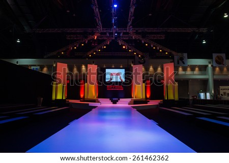 NONTHABURI THAILAND- MARCH 12:View the runway  before the Fashion show during The BIFF&BIL Bangkok international Fashion Fair 2015 at IMPACT Challenger Hall on March 12,2015 in,Thailand - stock photo