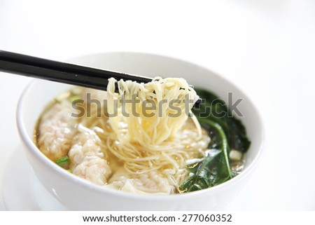 noodle and dumpling - stock photo