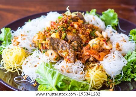 Noodle , Thai Noodle - stock photo
