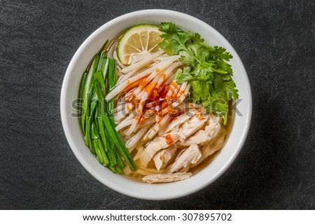 Noodles dish of the chicken of Pho Ga Vietnam