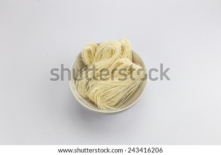 Noodles in a bowl. - stock photo