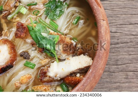 Noodles in soup of asia style - stock photo