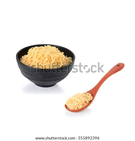 Noodles isolated on white background  this has clipping path. - stock photo