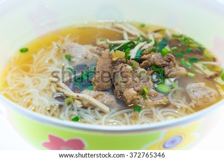 noodles on white background. - stock photo