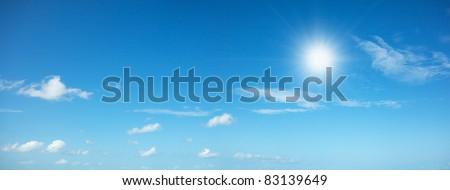 Noon sky in high resolution. Panoramic shot. - stock photo