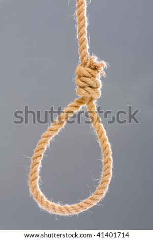 Noose made of rope against background - stock photo