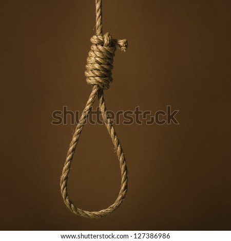 Noose over brown background - stock photo
