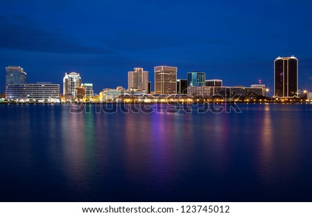 Norfolk, Virginia skyline - stock photo