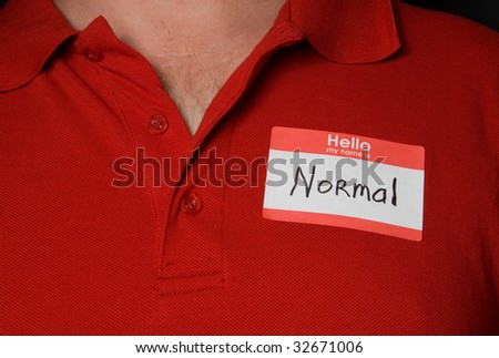 Normal. - stock photo