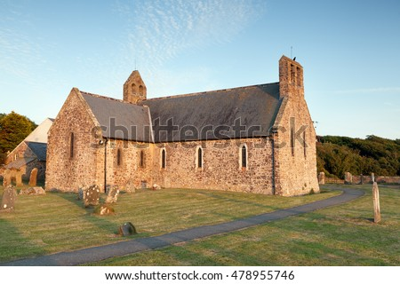 Norman parish church at St. Brides, Pembrokeshire, Wales