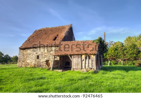 Normandy traditional old house - stock photo