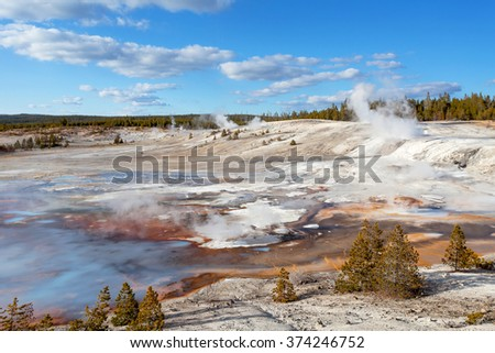 Norris Geyser Basin, Yellowstone National Park, Wyoming, USA - stock photo