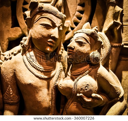 Nort-Central India, XI century A.D., Sandstone - stock photo