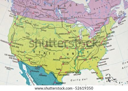 North America chart - stock photo