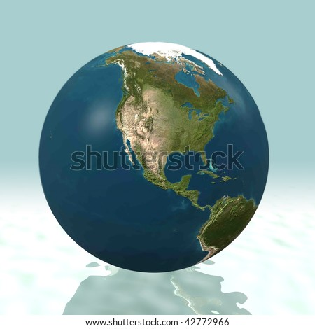 North America 3D world