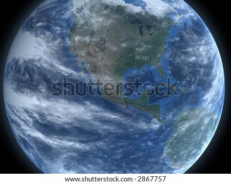 North America from Space - stock photo