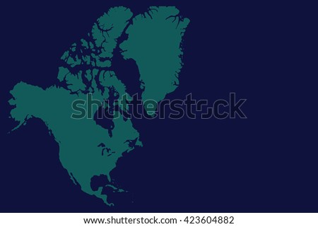 North America Map - stock photo