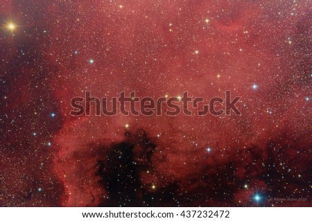 North America Nebula in Cygnus constellation - stock photo