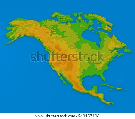 South Americaphysical Map Stock Vector Shutterstock - North america relief map