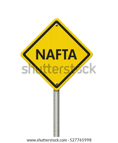 North american free trade agreement yellow stock illustration north american free trade agreement yellow warning road sign yellow caution sign with words nafta sciox Images