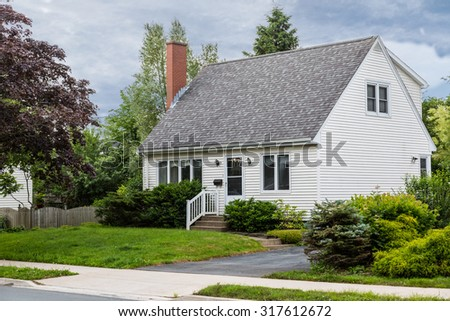 North American home from the sixties or seventies. - stock photo
