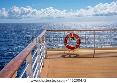 NORTH ATLANTIC, OCEAN - MAY 23 - A view from the deck of the Celebrity Summit on May 23 2016 in route to Bermuda. - stock photo