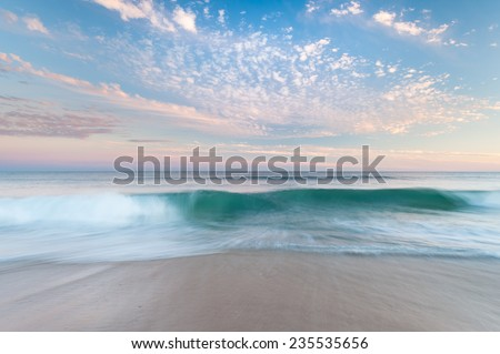 North Carolina Beach Sunset OBX Outer Banks Cape Hatteras National Seashore - stock photo