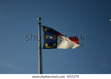 North Carolina Flag - stock photo