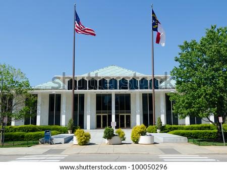 North Carolina legislative building - stock photo